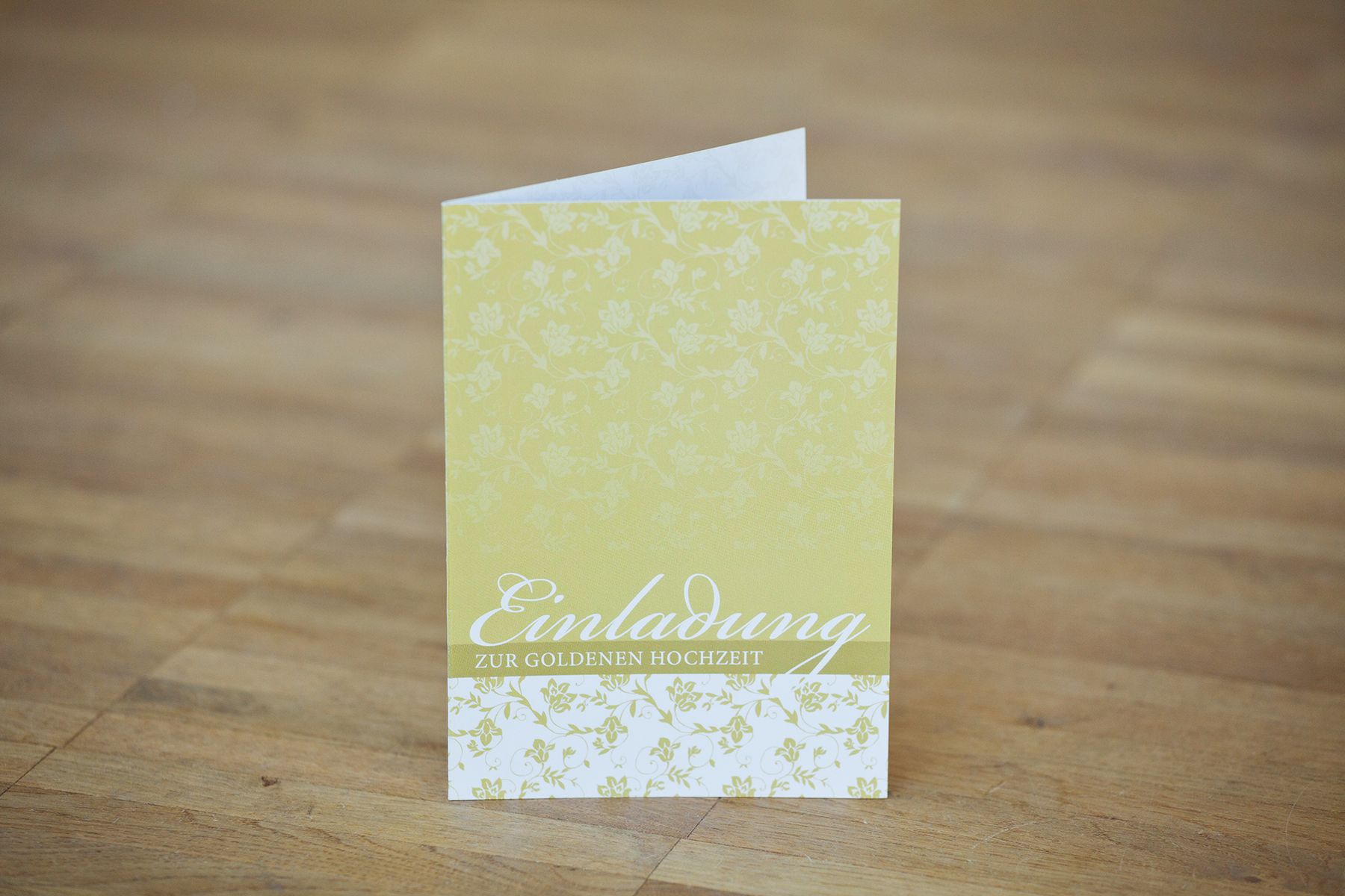Goldene Hochzeit, Einladung