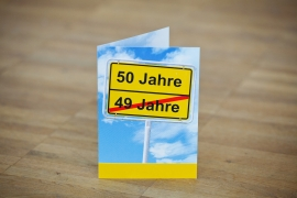 50. – Einladung zum Geburtstag
