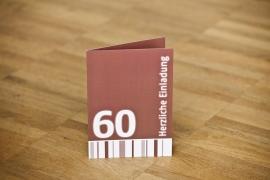 60. Geburtstag Einladung