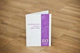 Einladungen 80. Geburtstag