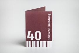 Einladungskarte, 40