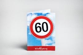 Einladungskarte 60