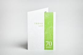 Einladungskarte, Geburtstag, 70