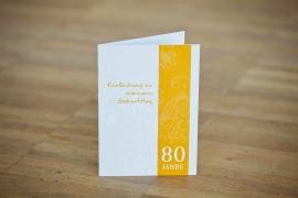 Einladungskarten Geburtstag 80