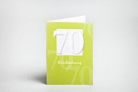Geburtstag, 70, Einladungen