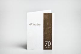 Geburtstag, 70, Einladungskarte