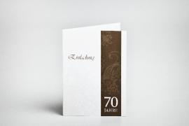 Geburtstag, 70, Einladungskarten