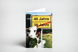 Geburtstag, Einladungskarte, 40