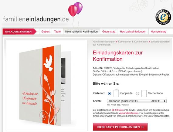 Einladungskarten Konfirmation Bestellen Einladungskarten: Blog.familieneinladungen.de/startseite » Einladungskarten