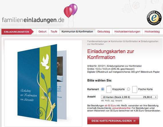 einladungskarten-konfirmation1, Einladung
