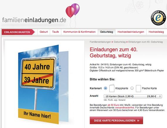Frisch blog.familieneinladungen.de/startseite » Witzige Einladungen zum  IL16